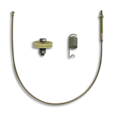 Corvette Parking Brake Cable, Front, Stainless Steel, 1967-1982