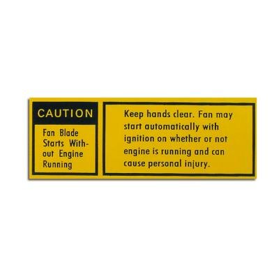 Corvette Radiator Caution Decal, 1979-1980