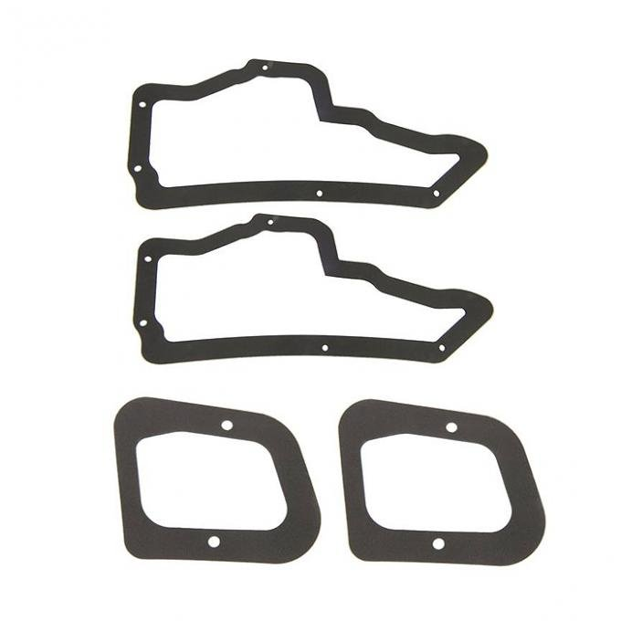 Corvette Door Access Plate Gasket, 2 Large and 2 Small, 1968-1982