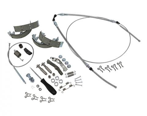 Corvette Parking Brake Kit, Master, With Original Equipment Shoes, 1967-1982