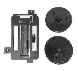 Corvette Heater/Air Conditioning Control Face Plate Repair Kit, With Air Conditioning, 1969-1971