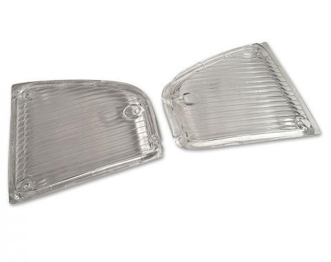 Trim Parts 70-71 Corvette Parking Light Lens, Clear, Pair A5300