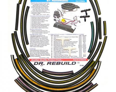 Corvette Emission Hose Kit, 1981 Automatic