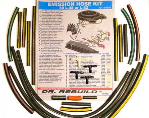 Corvette Emission Hose Kit, 1981 4 Speed