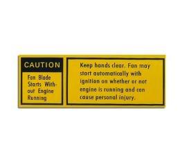 Corvette Radiator Caution Decal, 1979-1980
