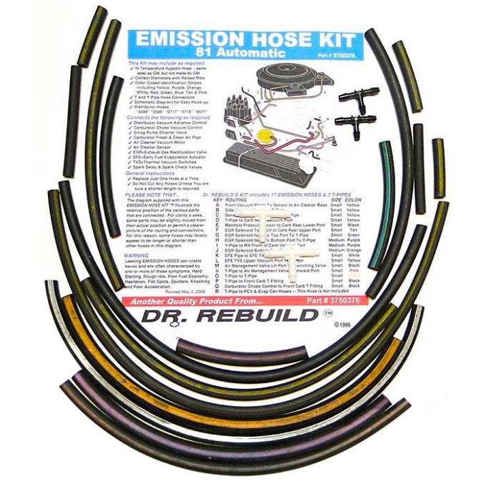 Corvette Emission Hose Kit, 1981 Automatic