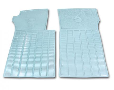 Corvette Floor Mats, Rubber, Clear, 1963-1967