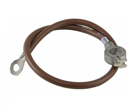 Corvette Battery Cable, Negative, For Cars With Air Conditioning, 1964-1967