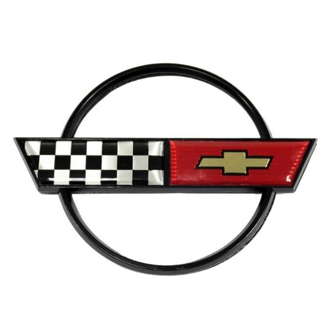 Corvette Gas Door Emblem, 1984-1990
