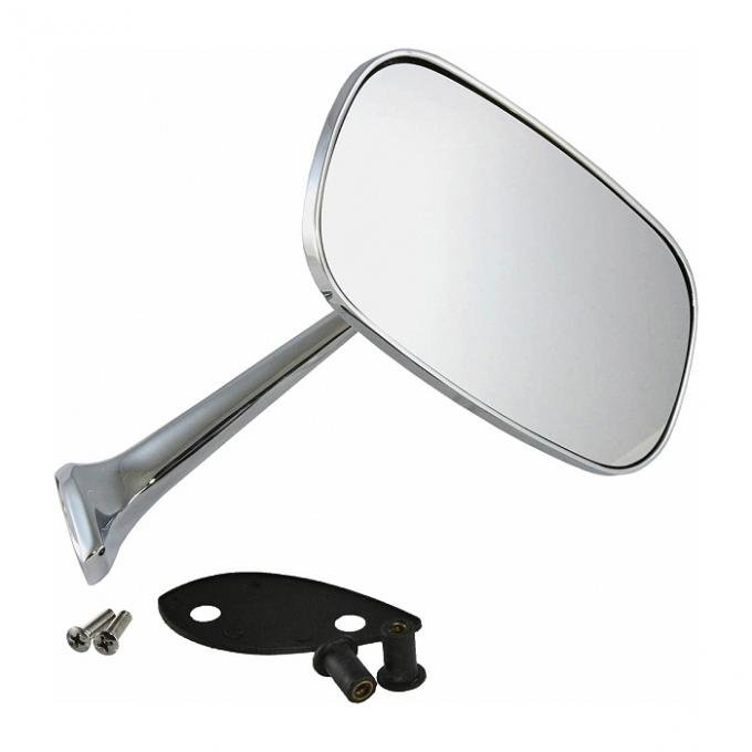 Corvette Outside Mirror, Chrome, Right With Mounting Kit 1975-1979