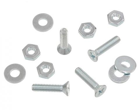 Corvette Body Lock Pillar Weatherstrip Screw Set, Late 1969-1975