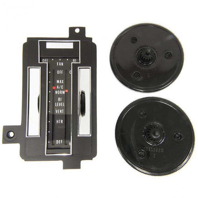 Corvette Heater/Air Conditioning Control Face Plate Repair Kit, With Air Conditioning, 1972-1975