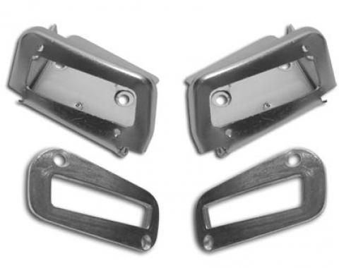 Corvette Shoulder Harness Seat Kit, Rear 4 Piece, 1970-1975