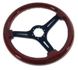 Corvette Steering Wheel, Mahogany & Black 3 Spoke, 1968-1982