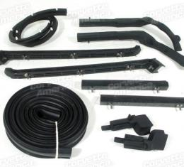 Corvette Convertible Top Weatherstrip Kit, 10 Piece, USA Made, 1963-1967