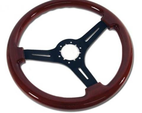 Corvette Steering Wheel, Mahogany & Black 3 Spoke, 1968-1982