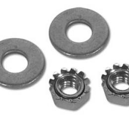 Corvette Dash Pad Nuts/Washers, 4 Piece Set, 1963-1967