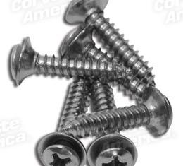 Corvette Rear Speaker Grille Screws, 6 Piece Set, 1978-1982