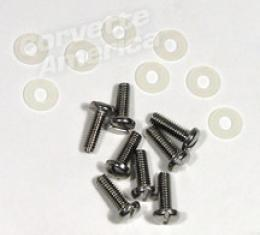 Corvette Taillight Lens Screw Set with Washers, 1958-1960