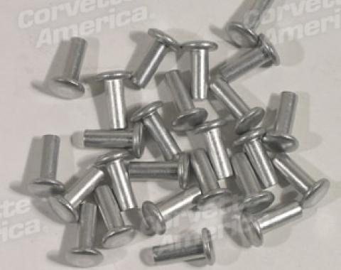 "Corvette Body Assembly Rivets, 25 Piece, Round Head 3/16"" X 1/2"", 1953-1962"