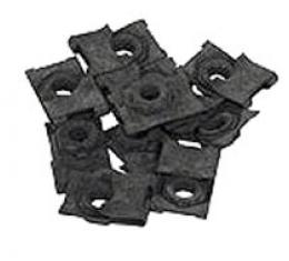 Corvette Dash Frame Mount U-Nuts, 10 Piece Set, 1963-1967
