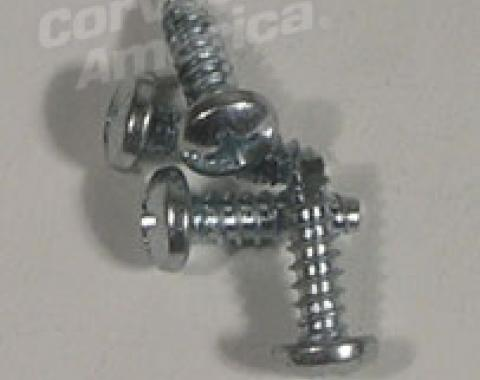 Corvette Courtesy Light Switch Screws, 4 Piece, 1953-1962