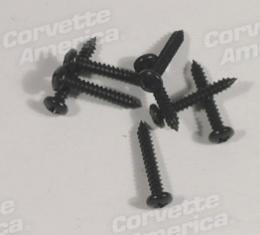 Corvette Door Speaker Grille Screws, 8 Piece, 1984-1989