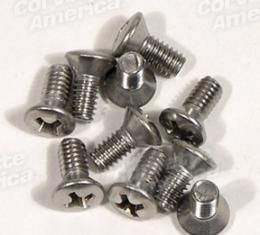 Corvette Softtop Header Weatherstrip Retainer Screw Set, 1956-1962