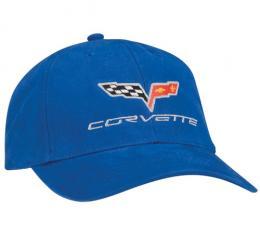 Corvette Hat, Royal Blue Constructed C6