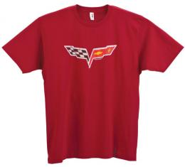 T-Shirt, Red Distressed C6