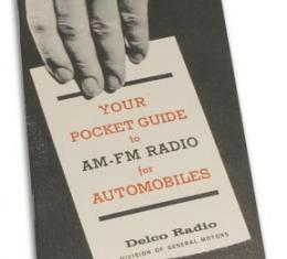 Corvette Pocket Guide, AM/FM, 1964