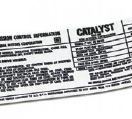 Corvette Decal, Emission L48, 1977