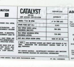 Corvette Decal, Emission 350 L82 Auto, 1980