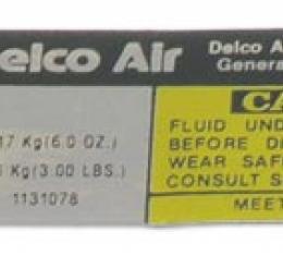 Corvette Decal, Air Conditioning Compressor Delco, 1979