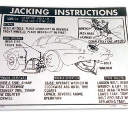 Corvette Decal, Jack Instructions with 36 Gallon Tank & Knock Off Wheels, 1963-1966