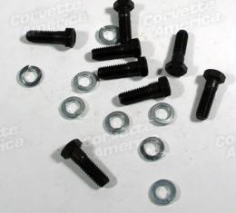Corvette Half Shaft U-Joint Cap Bolt Set, Heavy Duty, 1963-1979