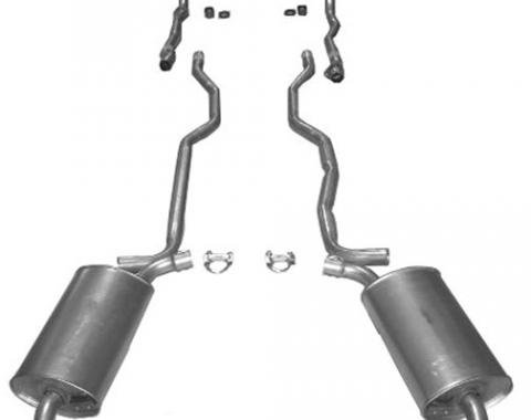 "Corvette Exhaust System, 2"" Separate Secondary Pipe and Muffler, 1963"