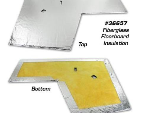 Corvette Floorboard Insulation, Left Fiberglss, 1968-1969