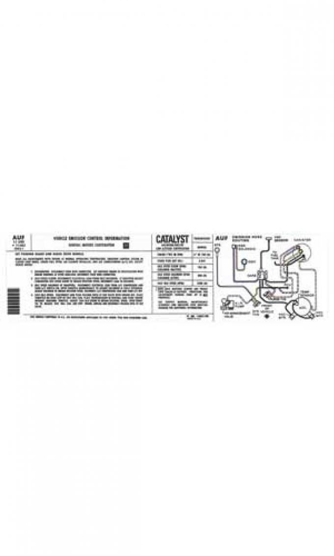 Corvette Decal, Emission Manual, 1981