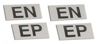 Corvette Labels, Shock Hd Susp 4 Piece Set, 1966-1968
