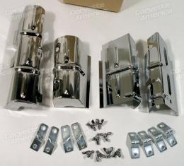 Corvette Lower Ignition Shield Set, with Brkts/Wngnts, 1964-1965