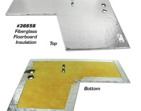 Corvette Floorboard Insulation, Right Fiberglss, 1968-1969