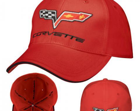 Corvette C6 Fitted Cap Red