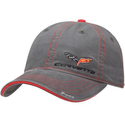 Corvette C6, Gray Washed Twill Cap