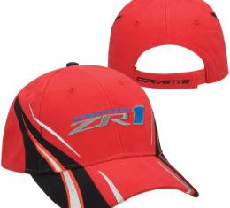 Corvette Hat, Red Vanishing Point, ZR1