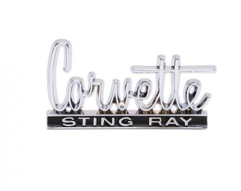 Corvette Glove Box Door Emblem, 1966-1967