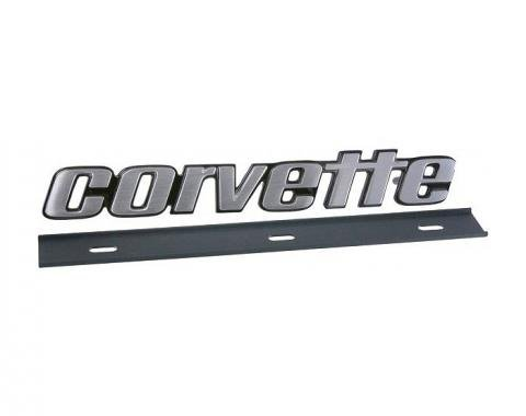 Corvette Bumper Emblem, Rear, Late 1976-1979