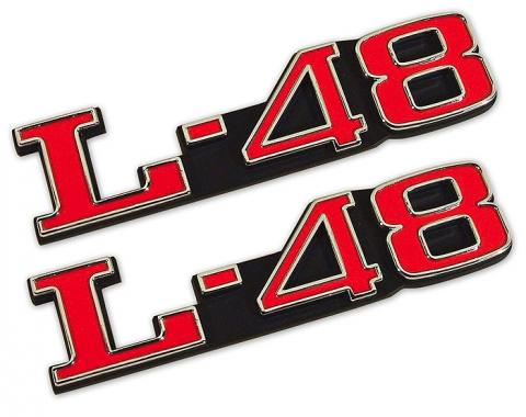 Trim Parts 73-82 Corvette Hood Emblem, L-48, Pair 5971