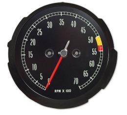 Corvette Tachometer, 5500 RPM, 1965-1967