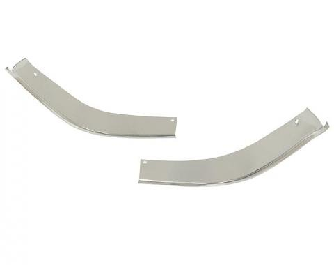Corvette Grille Moldings, Lower Corners, 1963-1964